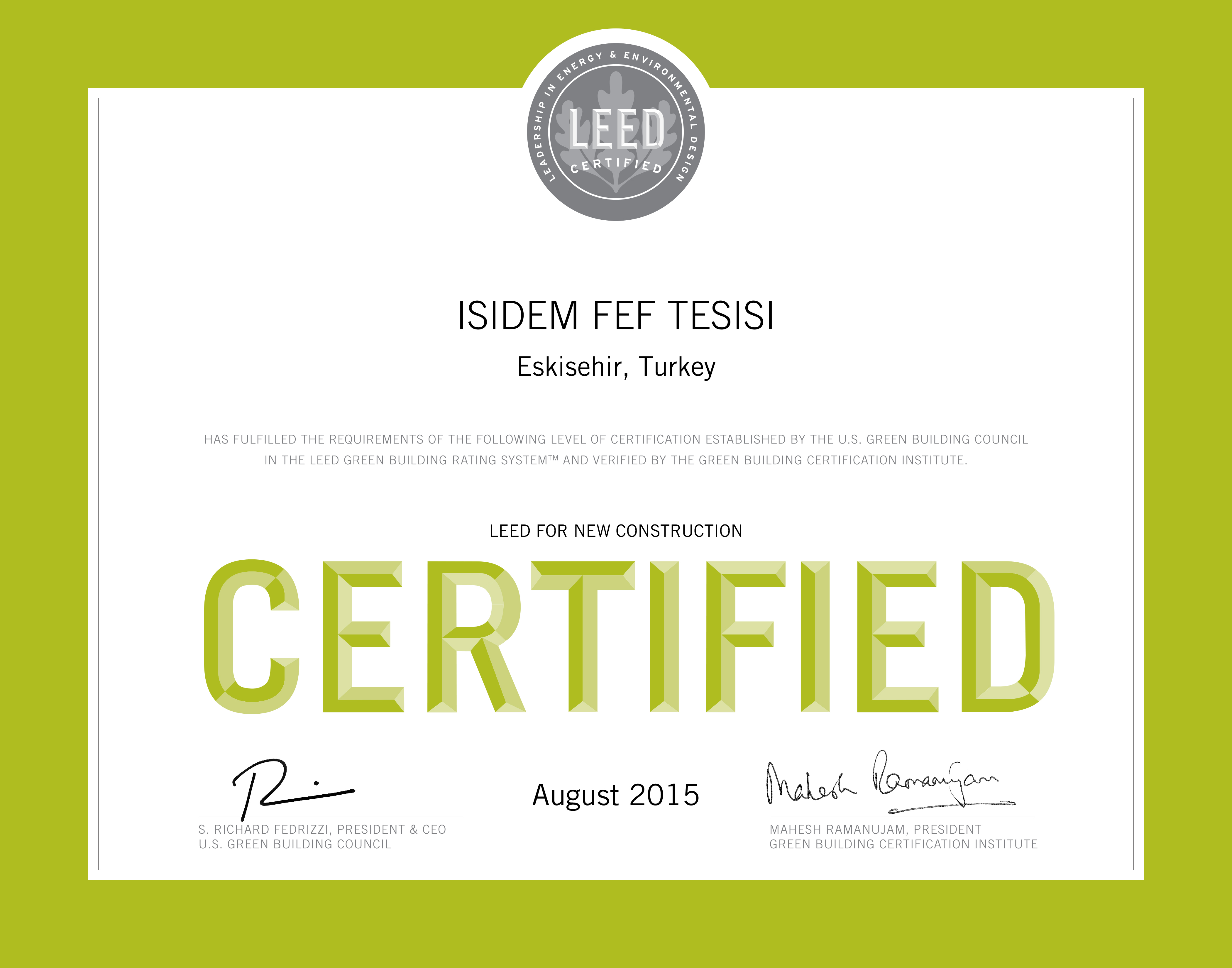 Leed certification isidem for What is leed certification mean